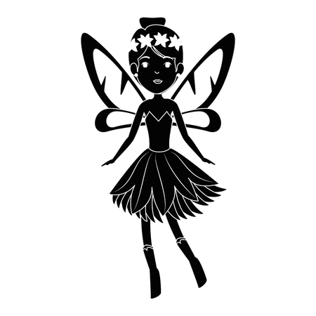 beautiful fairy flying character vector illustration design Ilustrace