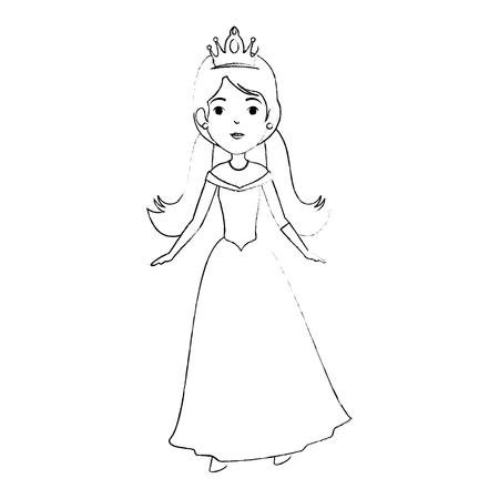 Conception d'illustration de vecteur mignon princesse fantaisie personnage Banque d'images - 88443158