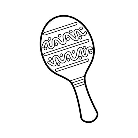 マラカスメキシコ音楽楽器お祝いカーニバルベクトルイラスト