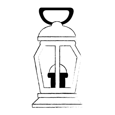 mine lantern isolated icon vector illustration design