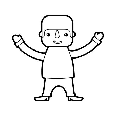 멕시코 남자 만화 서 문자 벡터 일러스트 레이션