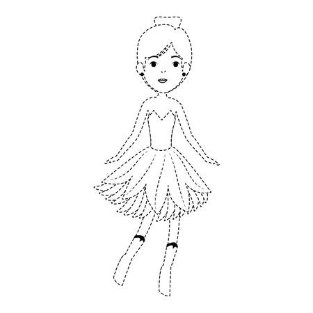 아름다운 요정 문자 아이콘 벡터 일러스트 레이션 디자인