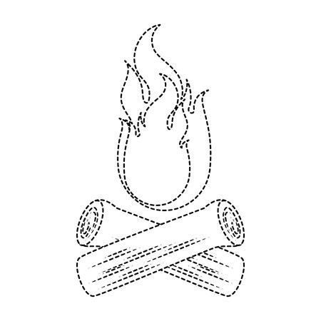 camp fire isolated icon vector illustration design Ilustração