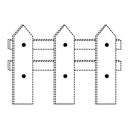 나무 울타리 격리 아이콘 벡터 일러스트 디자인 일러스트