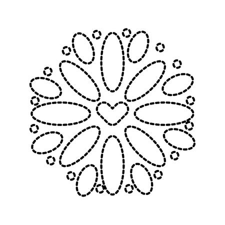 mexican decoration floral celebration festive vector illustration Ilustração