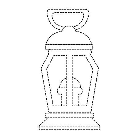 mine lantern isolated icon vector illustration design