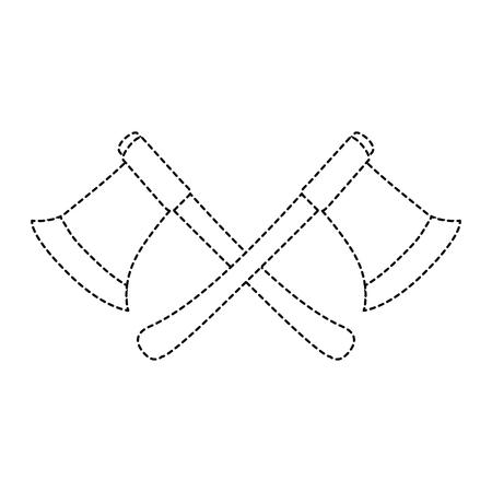 Bûcherons axes isolés icône vector illustration design Banque d'images - 88447802