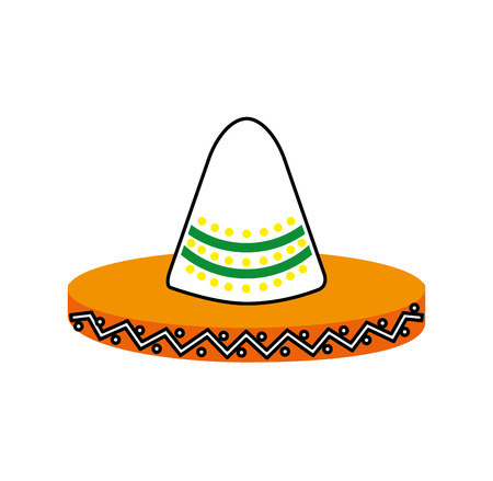 mexican hat carnival costume headdress vector illustration