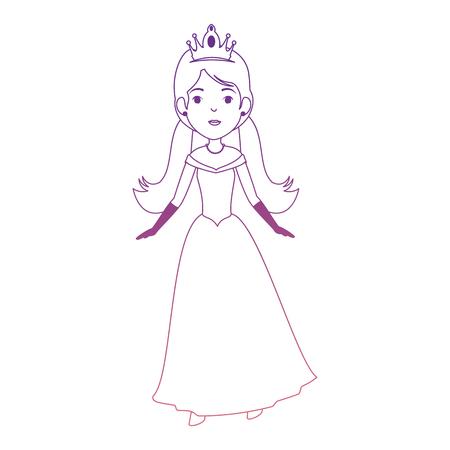 Mignon personnage princesse fantaisie illustration vectorielle conception Banque d'images - 88447845