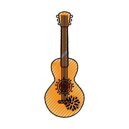 Illustrazione vettoriale di carnevale musicali strumento messicano messicano Archivio Fotografico - 88447887