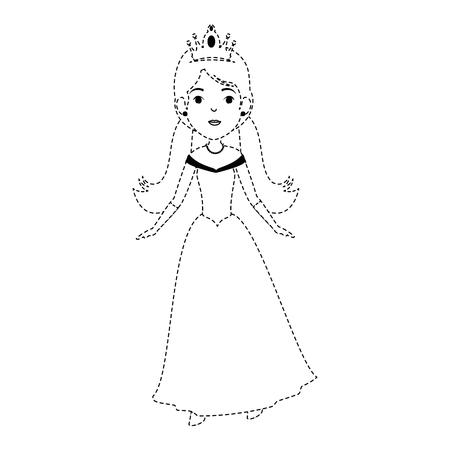 Conception d'illustration de vecteur mignon princesse fantaisie personnage Banque d'images - 88447957
