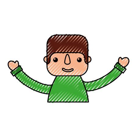 happy mexican man profile cartoon image vector illustration