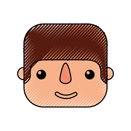 happy mexican man profile cartoon image vector illustration