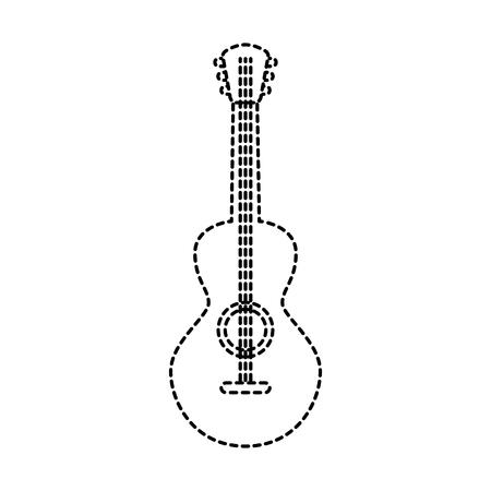 멕시코 기타 악기 뮤지컬 카니발 디자인 벡터 일러스트 레이션