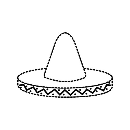mexican hat carnival costume headdress vector illustration Banco de Imagens - 88448039