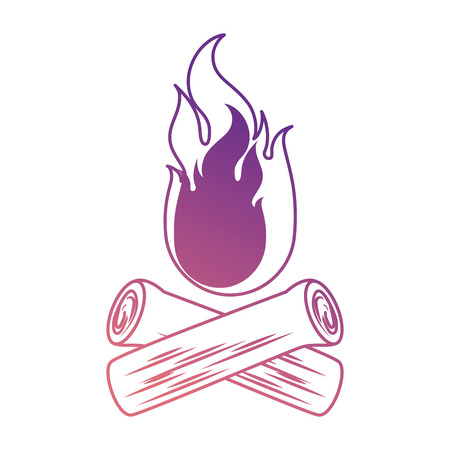 camp fire isolated icon vector illustration design Illusztráció