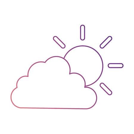 cloud sky silhouette with sun vector illustration design Ilustrace