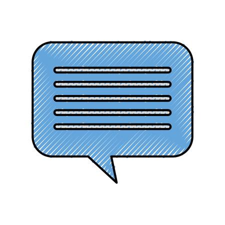 speech bubble message chat dialog media vector illustration Ilustração