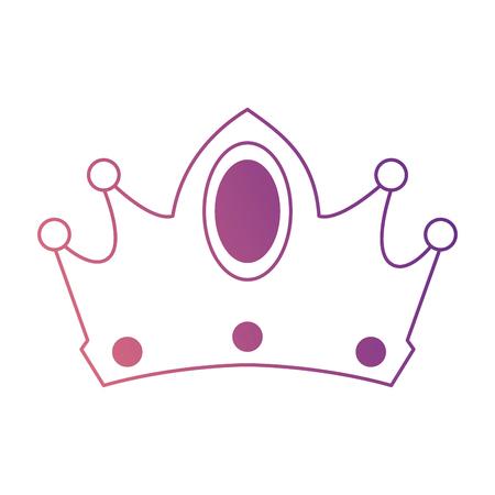 Koningin kroon geïsoleerd pictogram vector illustratie ontwerp