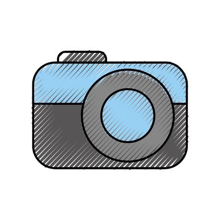photo camera device technology application vector illustration