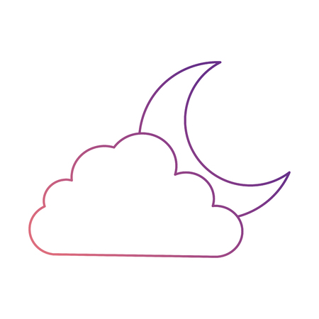 cloud sky with moon vector illustration design Illustration