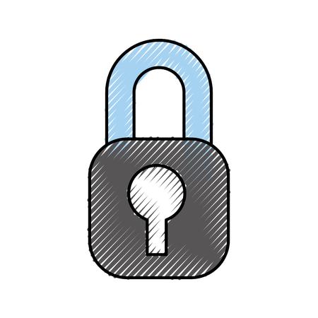 Illustrazione vettoriale di protezione accesso internet informazioni protezione Archivio Fotografico - 88448333