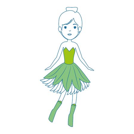 美しい妖精文字アイコン ベクトル イラスト デザイン