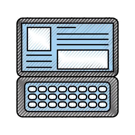 laptop keyboard website application connection vector illustration Ilustração