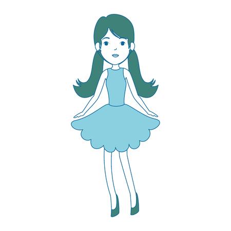 beautiful fairy character icon vector illustration design Illustration