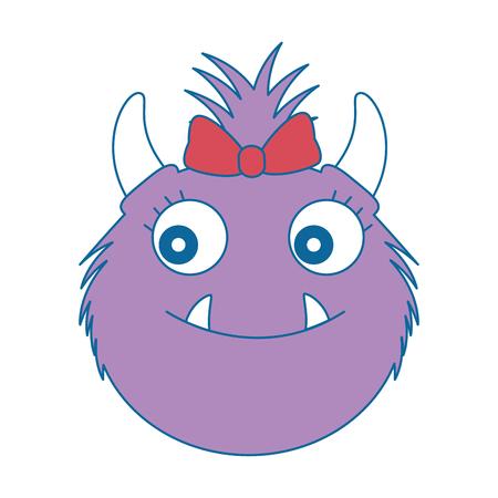 female furry monster character vector illustration design Illustration