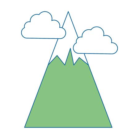 大きな山雲ベクトル イラスト デザイン