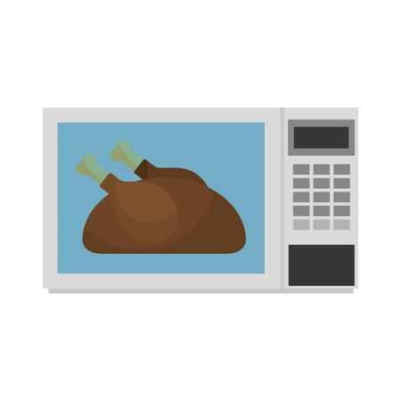 Poulet délicieux dans la nourriture de poulet vecteur illustration Banque d'images - 88448958