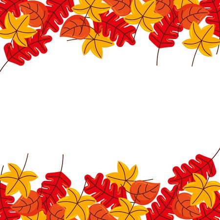 秋葉紅葉植物装飾ベクトル図