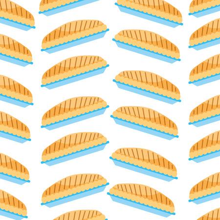 pumpkin pie food thanksgiving day seamless pattern vector illustration Illustration