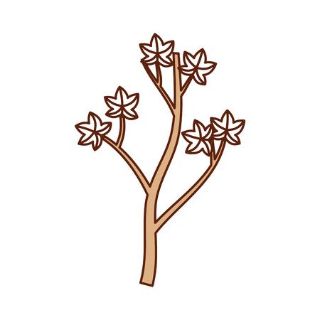 木や葉の季節ベクトル図の秋枝