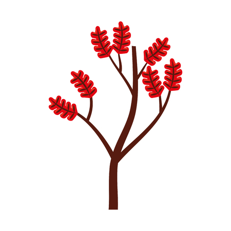 autumn branch of tree and leaves seasonal vector illustration Ilustração