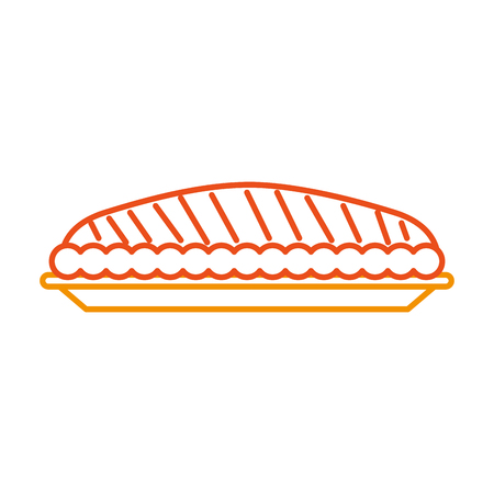 pumpkin pie food thanksgiving day celebration vector illustration