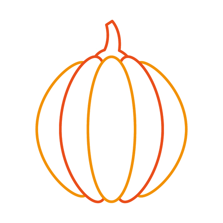 thanksgiving pumpkin dinner decoration celebration vector illustration Çizim