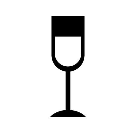 ワイン グラス飲み物感謝祭パーティーお祝いベクトル図