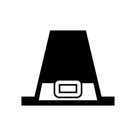 Chapeau pèlerin accessoire classique thanksgiving symbole illustration vectorielle Banque d'images - 88456290