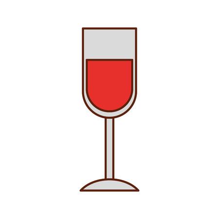 ワイングラスドリンク感謝祭パーティー祝賀ベクトルイラスト
