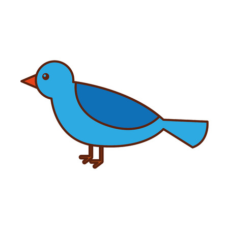 cute bird animal forest wild vector illustration