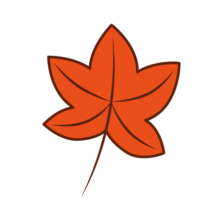 秋葉カエデ葉植物装飾ベクトル図  イラスト・ベクター素材