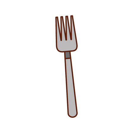 cutlery fork tool kitchen to eat vector illustration