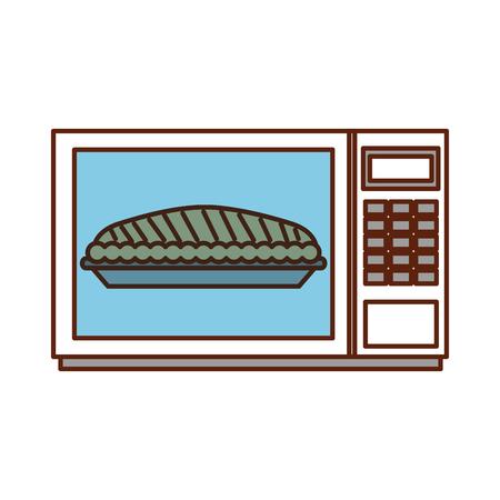 Zucca del dolce di microonda per l'illustrazione di vettore della cena di ringraziamento Archivio Fotografico - 88456392