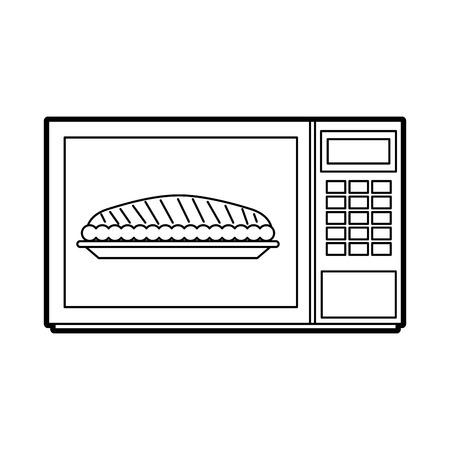 感謝祭ディナーベクトルイラストのための電子レンジケーキカボチャ