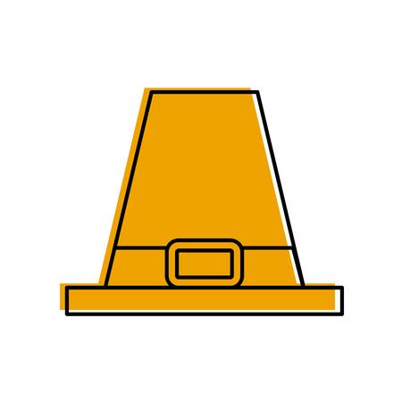 Chapeau pèlerin accessoire classique thanksgiving symbole illustration vectorielle Banque d'images - 88456411