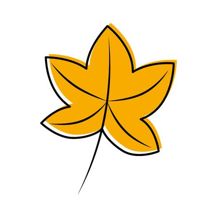 秋の葉カエデの葉フローラの装飾ベクトルイラスト  イラスト・ベクター素材