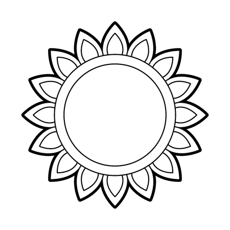 sunflower natural plant petal decoration vector illustration Ilustração