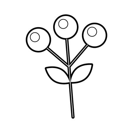 ブランチ秋のベリー植物自然はベクトルイラストを残します